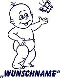 INDIGOS UG - Babystrampler / Strampler 049 mit Wunschname / Wunschtext schwarz 86/92