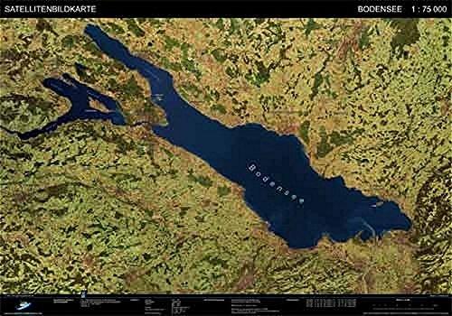Bodensee - Satellitenbildkarte: Landschaften aus dem Weltraum. 1:75.000 (Landschaften aus dem Weltraum / FPK Satellitenbildkarten)