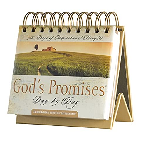 DaySpring God's Promises Day by Day, DayBrightener Perpetual Flip Calendar, 366 Days of Inspiration