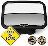 ROYAL RASCALS | Specchietto Auto per Bambini | Specchietto retrovisore per seggiolini in posizione retro | Si adatta a tutti i poggiatesta regolabili | Antirottura | PRODOTTO PREMIUM PER LA SICUREZZA