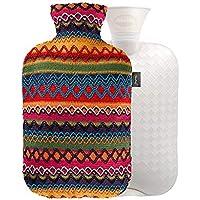 YUN Gewebtes Muster-Mantel-PVC-füllendes Wasser-Wärmflaschen-Handwärmer des Peru-Art (Farbe : Pink) preisvergleich bei billige-tabletten.eu
