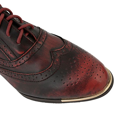 Femme Chaussures Plates Mesdames Dolcis à lacets Chaussures Smart Office Chaussures richelieu Vintage Taille 661 Ox Blood
