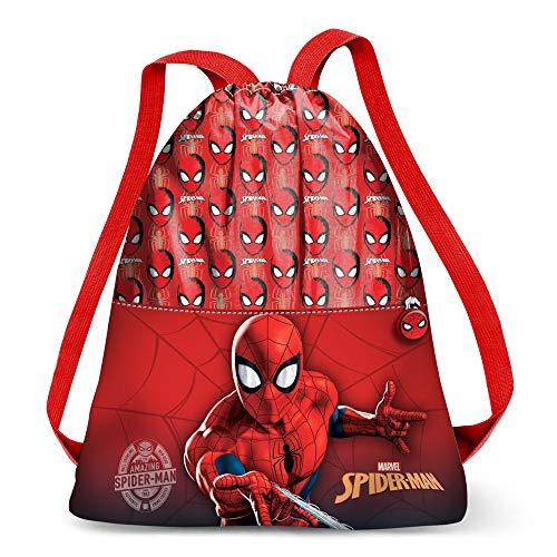 Karactermania Spiderman Spiderweb-Strap Turnbeutel Bolsa de Cuerdas para el Gimnasio 41 Centimeters Rojo (Red)