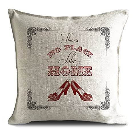 Wizard of Oz No Place Like Home Cushion Cover Dorothy Ruby Slippers 40x40cm UK Seller