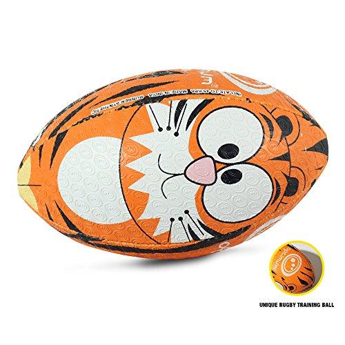 OPTIMUM Unisex-Youth Rugby Ball, Tiger, Midi, Mehrfarbig