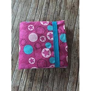CD Etui für 24 CD´s oder Pxibücher Pixibuchhülle CD Wallet CD Hülle handmade Sterne Stars Dots