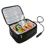 Calentador de horno y almuerzo portátil para automóvil de 12 V - Bolsa de almuerzo de calefacción personal para recalentar comidas en el trabajo sin un microondas de oficina (Black)