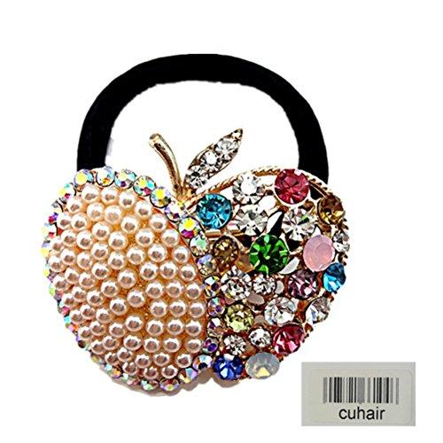 Cuhair 1 pièces Top élastique Cristal Perle Strass Motif pour femme Cheveux Cravate Queue de cheval Queue de cheval Cheveux Bande Cheveux Corde Cheveux en caoutchouc Accessoires Cheveux