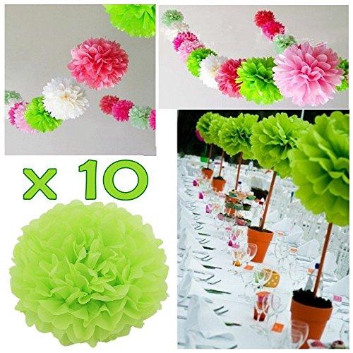 Jzk 10 verde pom pom carta velina 25 cm decorazioni - Addobbi laurea per casa ...