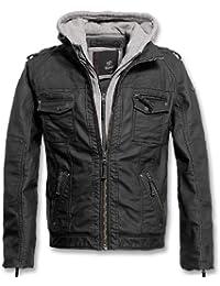 Brandit Black Rock Vintage Leather Jacket Herren Jacke