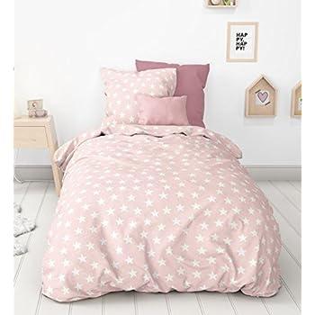 aminata kids biber bettw sche 135x200 cm sterne rosa weiss. Black Bedroom Furniture Sets. Home Design Ideas