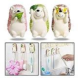 OFKPO 3 Stück Kreativ Tier Zahnbürstenhalter,Selbstklebend Wasserdicht Zahnbürste Haken