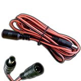 4x Stück - Verlängerung 3 Meter Kupplung 5,5 x 2,1 300cm Anschlußkabel Buchse Stecker Verlängerungskabel für Strips, Streifen, Sensoren uvm.