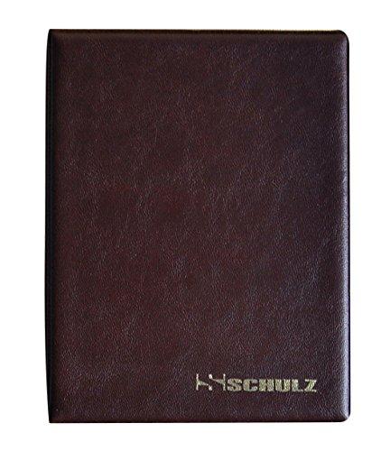 Schulz, Münzalbum für 126 Münzen in verschiedenen Größen von klein bis groß,mit Seiten,Braun