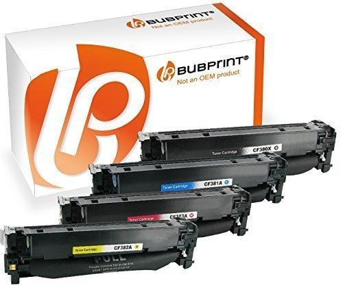 Preisvergleich Produktbild Bubprint 4 Toner kompatibel für HP CF380X, CF381A, CF382A, CF383A SET Color LaserJet MFP M476dn M476dw M476nw