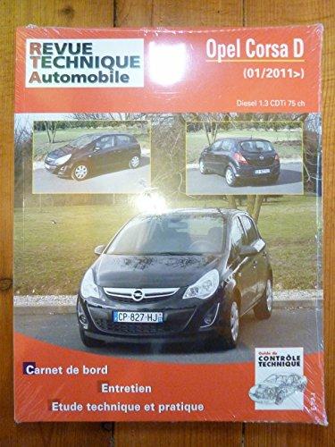 Revue Technique Automobile OPEL CORSA D depuis 01/2011 Diesel 1.3 CDTi 75cv RRevue TechniqueB0774.5
