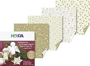 """set de papiers origami """"Ange & Étoile"""", 100 x 100 mm,"""