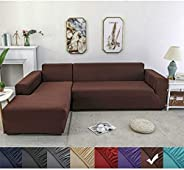 L-shaped Sofa Cover Combination Sofa Cover-non-slip and Stain-resistant Machine Washable Furniture Protective