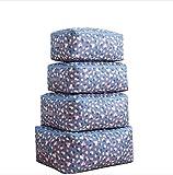 4 Stück ultra Größe Faltbare Aufbewahrungstasche für Bettwäsche, Bettdecken , Kissen, einer Decke, Kissen, Kleidung, Pullover, Organisator-Beutel für Saisonartikel, mit Reißverschluss und Griffe