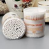 Tampons de coton, Ettgear bâton de bois Tampons de coton Double à pointe avec de la plus haute qualité Têtes de coton Multipurpose, sûr, très absorbante et hygiénique de 150