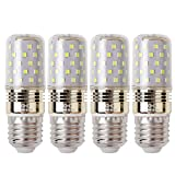 LED Mais Glühbirne E27 12W, AC 220-240V, 100Watt Glühlampe äquivalent, Nicht dimmbar 6000K Kaltweiß 1200lm Kleine Edison-Schraube Kerze Leuchtmittel (4er-Pack)