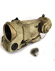 WorldShopping4U Military Tactical Airsoft 1-4X Magnifier Dual Role Elcan Red/Green Dot Sight Scope A-Tacs