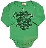 SR - Milchtüte Geschenkbox - Entschuldige meine Milchfahne Baby Strampler - Strampelanzug - 100% ökologisch - Baby Geschenkset - 6-12 Monate Grün
