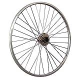 Taylor-Wheels 28 Zoll Hinterrad YAK19 mit 7 Fach Kassette - Silber