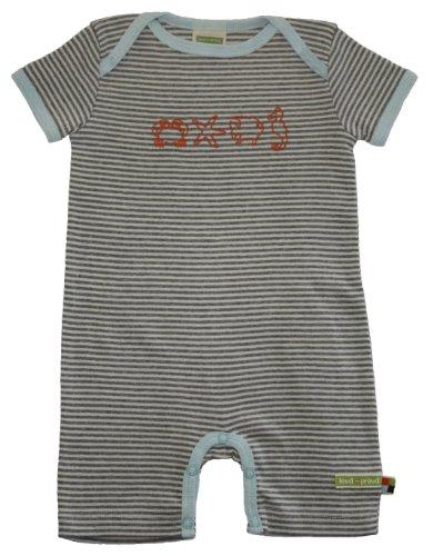 loud + proud Unisex - Baby Overall 515, Gr. 50/56, Grau (grau meliert)