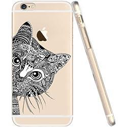 iPhone 7 Caso por licaso® para el patrón de Apple iPhone 7 Gato Negro Gatito Dulce TPU de silicona ultra-delgada proteger su iPhone 7 es elegante y cubierta regalo de coches
