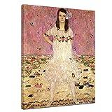 Bilderdepot24 Kunstdruck - Alte Meister - Gustav Klimt - Portrait der Eugenia Primavesi - 40x50cm Einteilig - Leinwandbilder - Bilder als Leinwanddruck - Bild auf Leinwand - Wandbild
