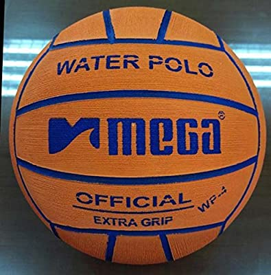 Water Polo Ball. Mega. Color Naranja. Tamaño 4 para Junior y las mujeres competiciones