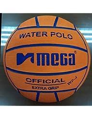 Water Polo Ball. Mega. Color Naranja. Tamaño 4para Junior y las mujeres competiciones