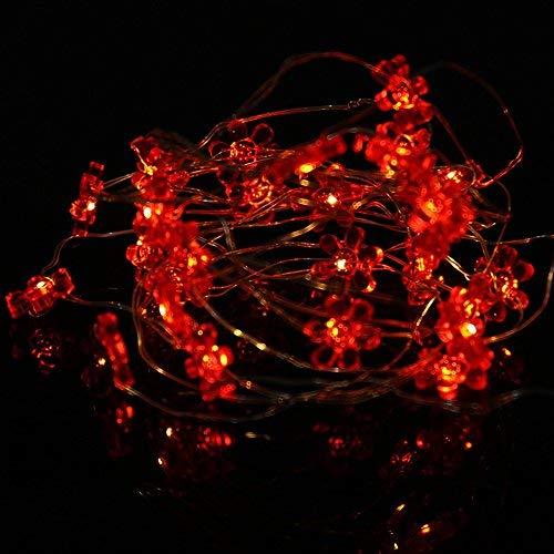 FOReverweihuajz 5 M 50 LED Sunflower String Lights Wedding Party Christmas Room Decoration Warm White