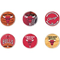 NBA Chicago Bulls WCR33058210 Round Button (6 Pack), 2