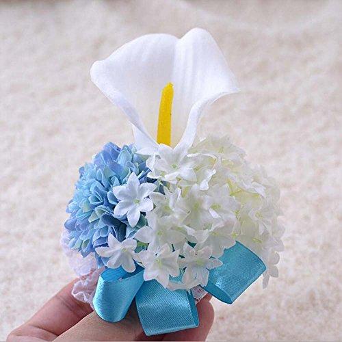 Hochzeit Dekorationen Corsage Handgelenk Blumen Künstliche Blumen Seidenblumen Brautjungfer Hochzeitsstrauß