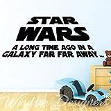 """Star Wars– Vinilo adhesivo decorativo con cita «A Long Time Ago...», negro, -Small -SIZE 60cm x 30cm (24"""" x 12"""")"""