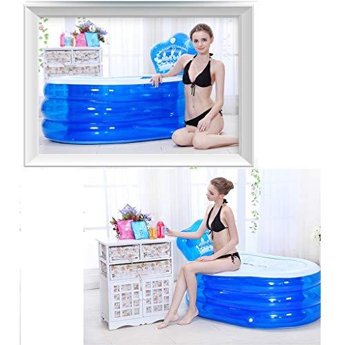 Inflatable Bath Home Badewannenbadewanne mit Badewanne aus Kunststoff (Farbe: Handpumpe, Größe: 160 cm)