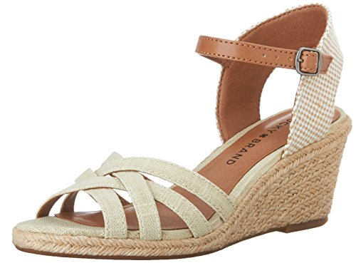 lucky-brand-kalley-femmes-us-55-beige-sandales-compenss