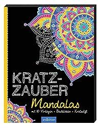 Kratzzauber Mandalas: mit 10 Vorlagen, Bastelideen, Kratzstift (Malprodukte für Erwachsene)