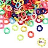 200 Stück Bunte elastische Haarbänder für Mädchen Mini weiche Gummibänder Baby Haarbänder Pferdeschwanz Halterungen