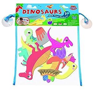 Barney & Buddy BA087 - Adhesivos Decorativos para baño, diseño de Dinosaurios, Multicolor