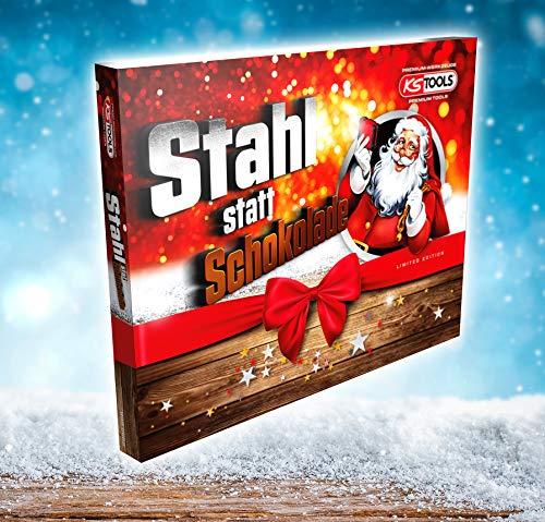 KS Tools 999.6666 Adventskalender 2019 >Stahl statt Schokolade< Steckschlüssel-Satz, 33-tlg, Limited Edition
