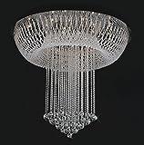 WQRTT® Lampadaire à cristaux liquides Crémaillères crémaillères Lampes à escalier composites Hotel Villa chandeliers Lampes d'ingénierie Lampes