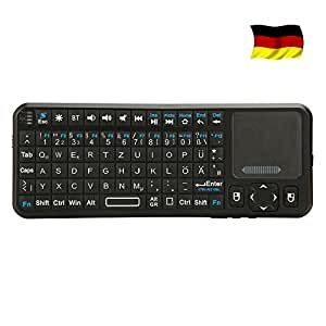 iPazzPort Bluetooth Wireless Mini Keyboard With Backlit and Multi Touchpad for Google Android TV HTPC PC Windows 8 KP-810-10BTT