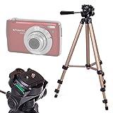 DURAGADGET Trípode Profesional para Cámara Polaroid DGT IS529, Sony DSC-RX100 V, Canon IXUS 285 HS, Inkint 24,0, Kodak Pixpro AZ251, Panasonic DMC-LX100EGK - con Nivel De Burbuja