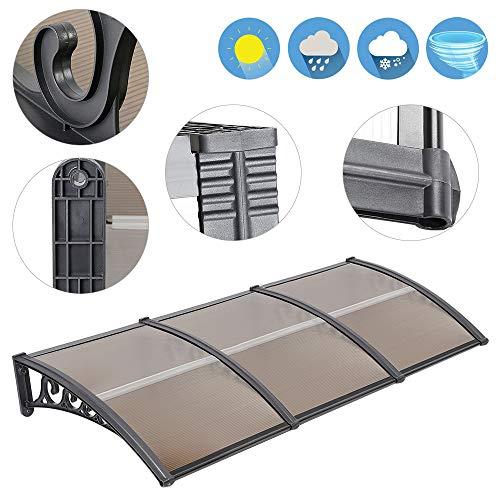 �r, Kunststoff, Aluminium, Pultbogenvordach, Überdachung, Transparent, Fenster Markisen (100x300 cm) ()