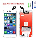 Ecran pour iPhone 6s lcd vitre ecran tactile remplacement avec réparation d'outils montage complet blanc
