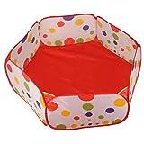 Sulifor 1,2 Meter Ballpool ohne Schießen, Hexagon Dot Kinderball Zelt mit Handtasche Spielzeug