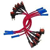 WinPower 10 Stück Mini Autosicherungen Stromdieb, Stecksicherung Verteiler Flachsicherungsadapter 10A Sicherung Tap Adapter Sicherungshalter